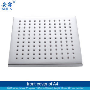 8 Inch Square Bathroom Removable Shower Head