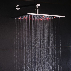 3 Colors Change 12 Inch Lighted Shower Head
