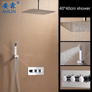 Ceiling Mounted 16inch Rain Shower Head with Handheld